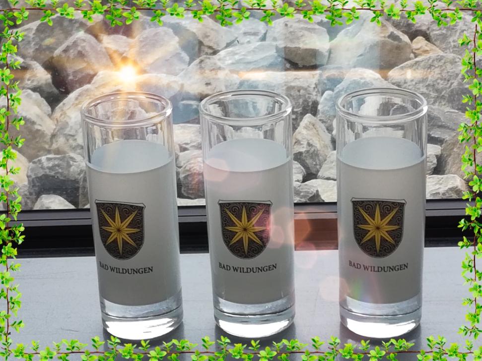 Schnapsglas Bad Wildunger Wappen